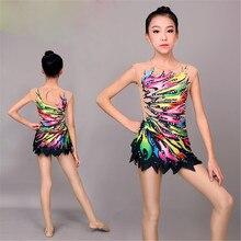 LIUHUO Donne ginnastica ritmica body per le ragazze vestito di prestazione della ginnastica Artistica vestito Bella stampa Senza Maniche
