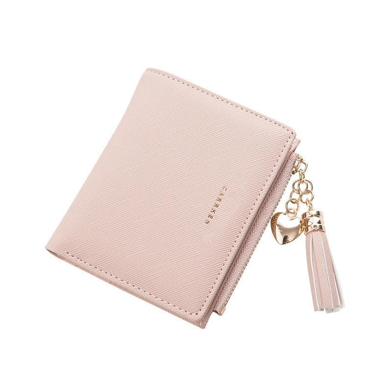 2021 Tassel Women Wallet Small Cute Wallet Women Short Leather Women Wallets Zipper Purses Female Pu