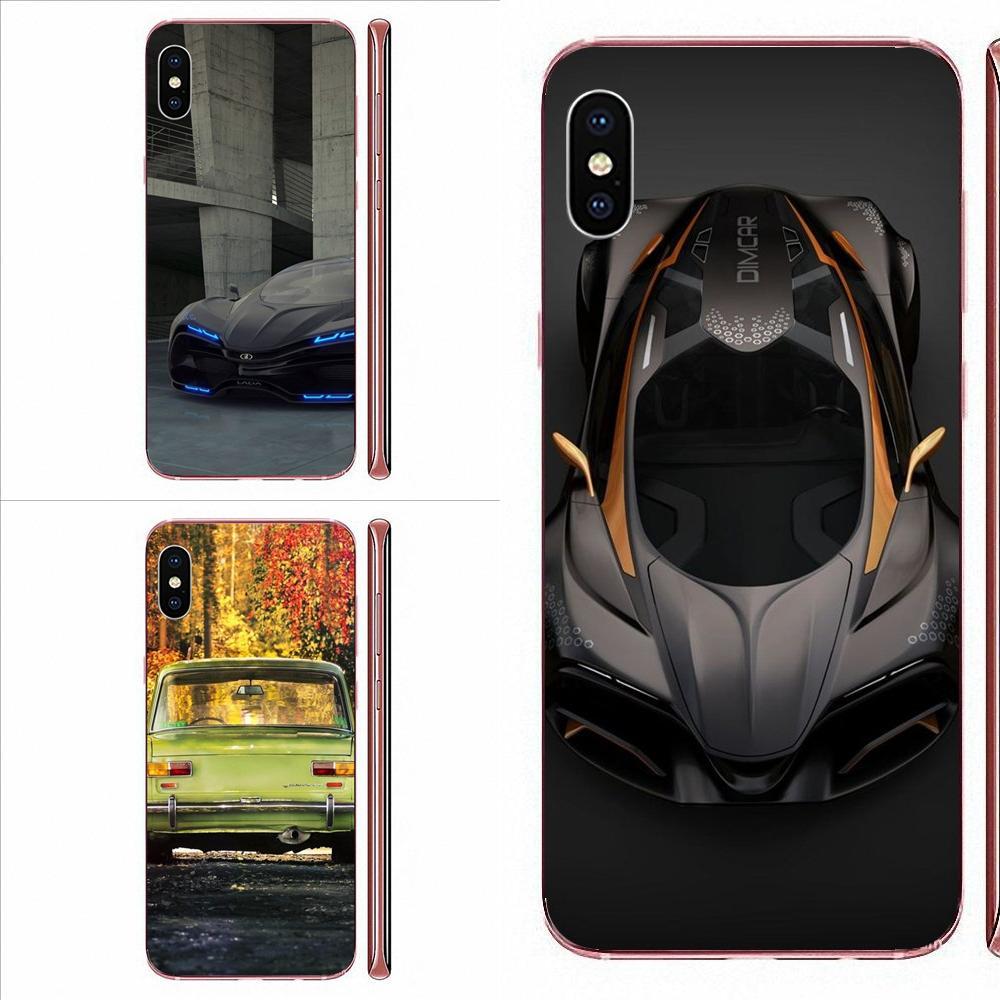 Diseño Lada concepto coche de silicona caso de la cubierta para iPhone 11 Pro Max Plus Pro X XS X Max XR 8 7 6S SE 4S 5 5C 5S SE 2020