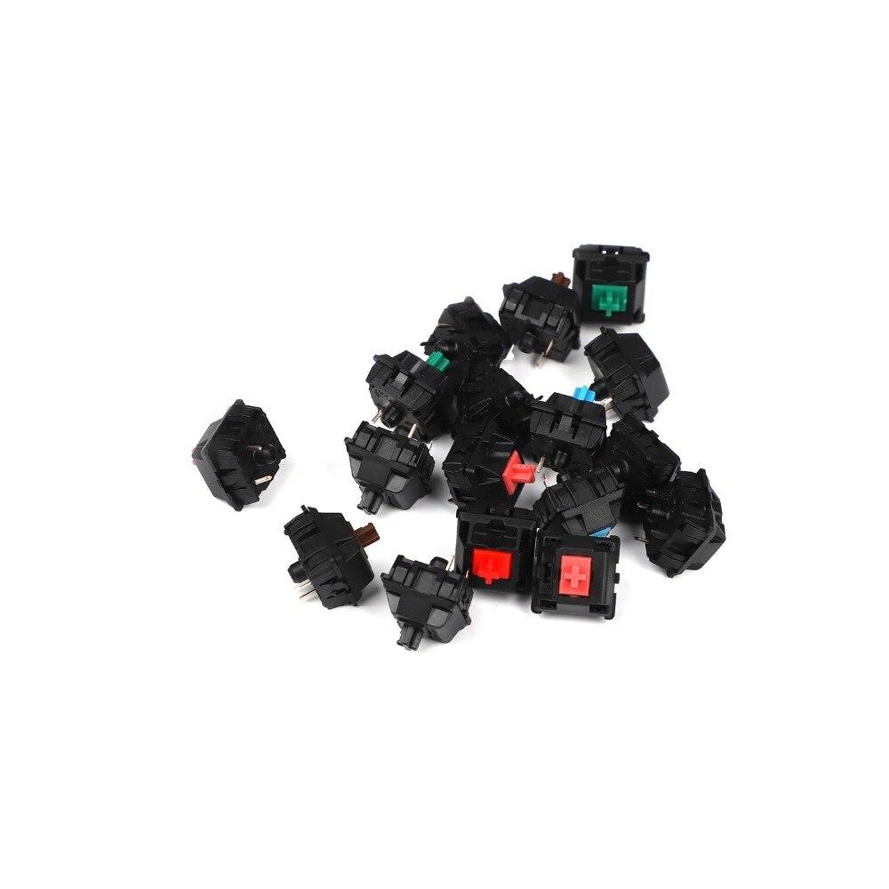 3-pin و 5-pin ، لوحة المفاتيح الميكانيكية الحقيقية ، التبديل البني والأزرق والأحمر والفضي ، وتجارة الجملة