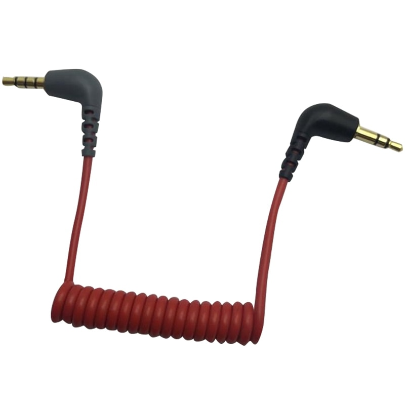 Replacement 3.5mm TRS to 3.5mm TRRS Adapter Cable for iPhone RODE Sc7 By VIDEOMIC GO Video Micro-typ