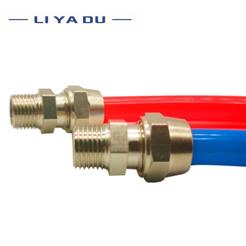 10 Uds PC6 8 10 12-01/02/03/04 tráquea rápido conector de tornillo de cobre componentes neumáticos giro rápido conjunta PC 8mm 10mm 12mm Tubo de 1/8 de 1/4