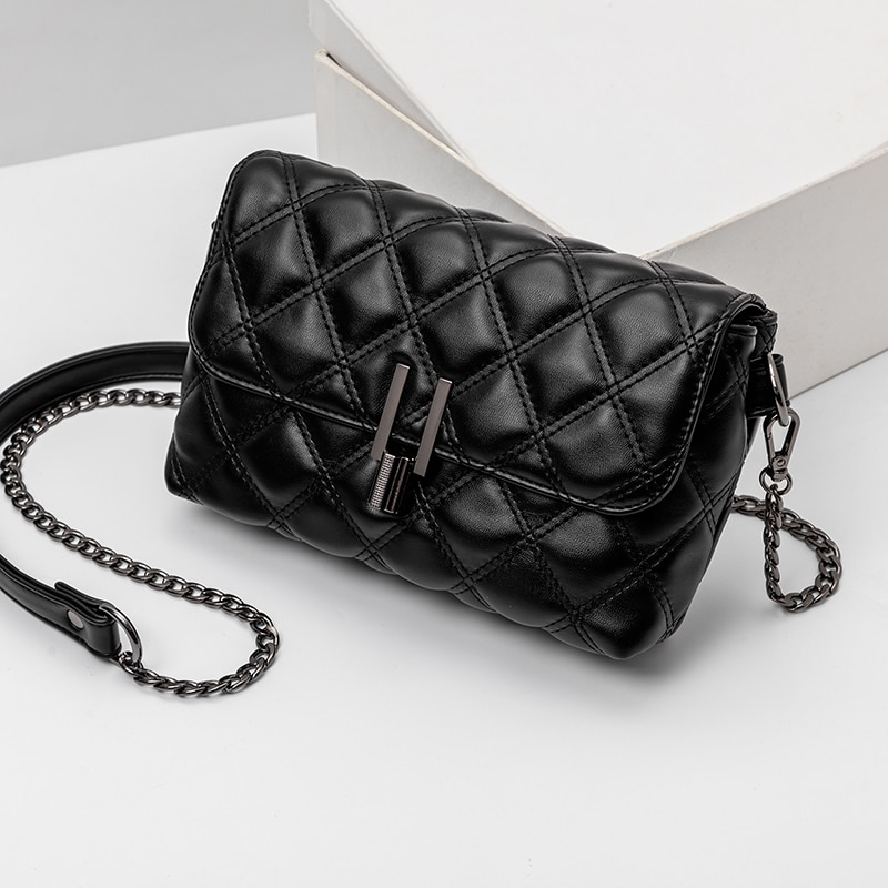 Small Classic Diamond Lattic Crossbody Bag For Woman Fashion Quilted handbag Lady's Soft PU Leather Flap Messenger Bag Chain women s luxury designer elegant pu classic quilted vintage shoulder bag chain flap crossbody bag handbag office daily fashion
