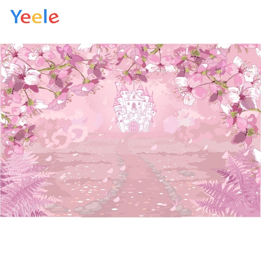 yeele dreamy castle style backdrops for photography pink flowers fairy tale backgrounds birthday party photo vinyl studio props Yeele Dreamy Castle Style Backdrops for Photography Pink Flowers Fairy Tale Backgrounds Birthday Party Photo Vinyl Studio Props