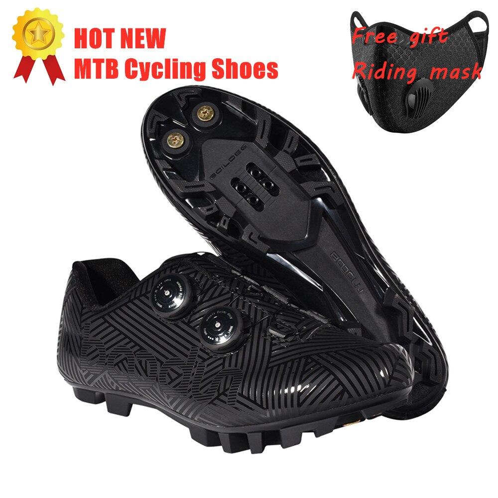 Популярная новинка; Обувь для велоспорта; Дышащая и водонепроницаемая обувь для гонок на горном велосипеде; Обувь для велоспорта с самоблокирующейся подошвой; Спортивная обувь для велосипеда