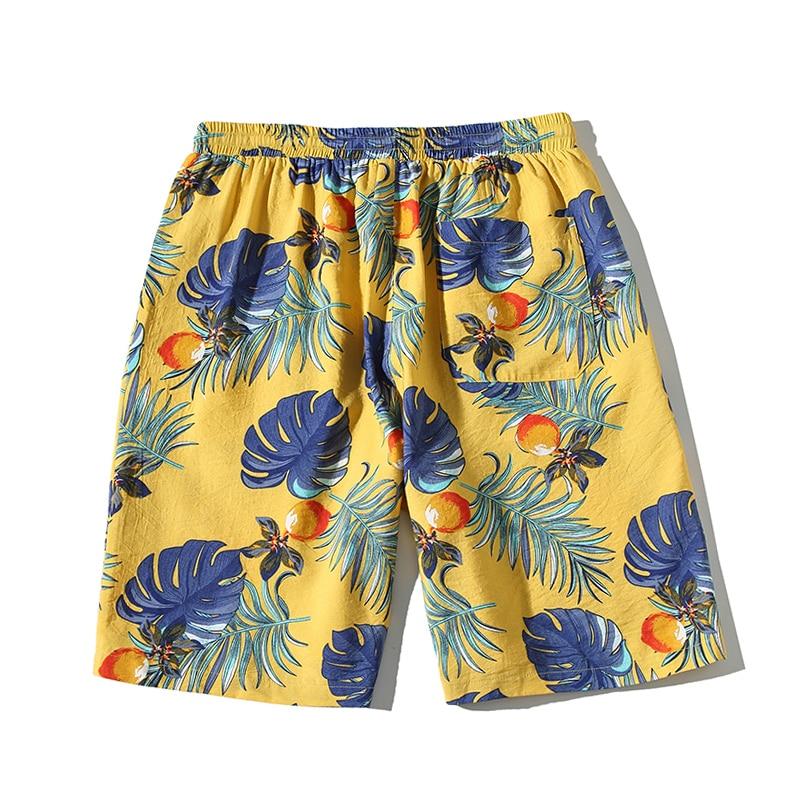 Hawaiian Beach Short Hip Hop Baggy Shorts Men Streetwear Tid Loose Casual Floral Knee Length Seaside Resort baan laimai beach resort