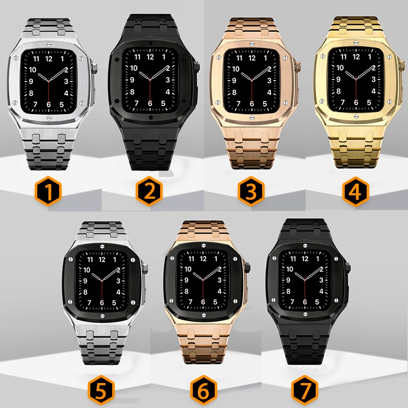 Stainless Steel Band for Apple Watch Band 42mm 44mm Metal Watch Case for 38mm 42mm iWatch Series 6 5 4 Modification Accessories