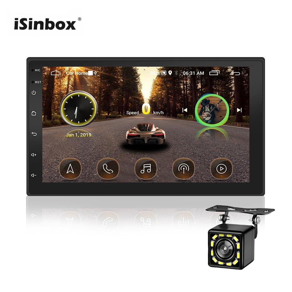 ISINBOX Android Car Radio para VW Volkswagen Toyota Hyundai Autoradio coche estéreo GPS Wifi enlace Radio 2 Din Radio Bluetooth