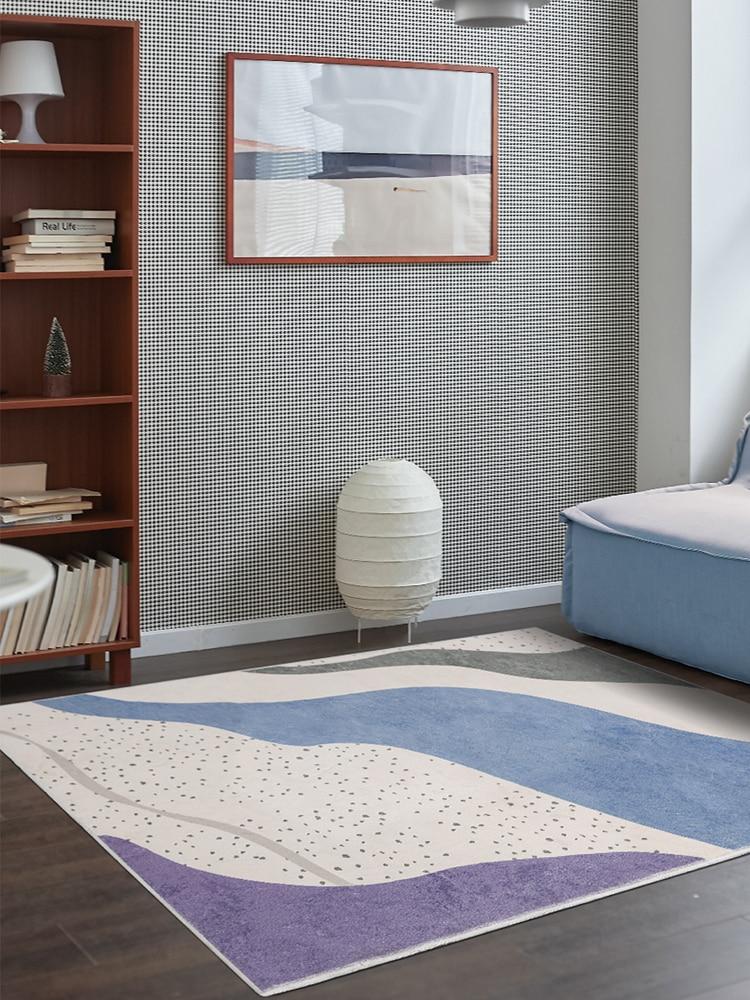 الهندسة الحديثة الأرجواني السجاد لغرفة المعيشة الفتيات غرفة لينة البساط السرير تلعب حصيرة الشمال نمط السجاد المنزل سجادة غرفة النوم