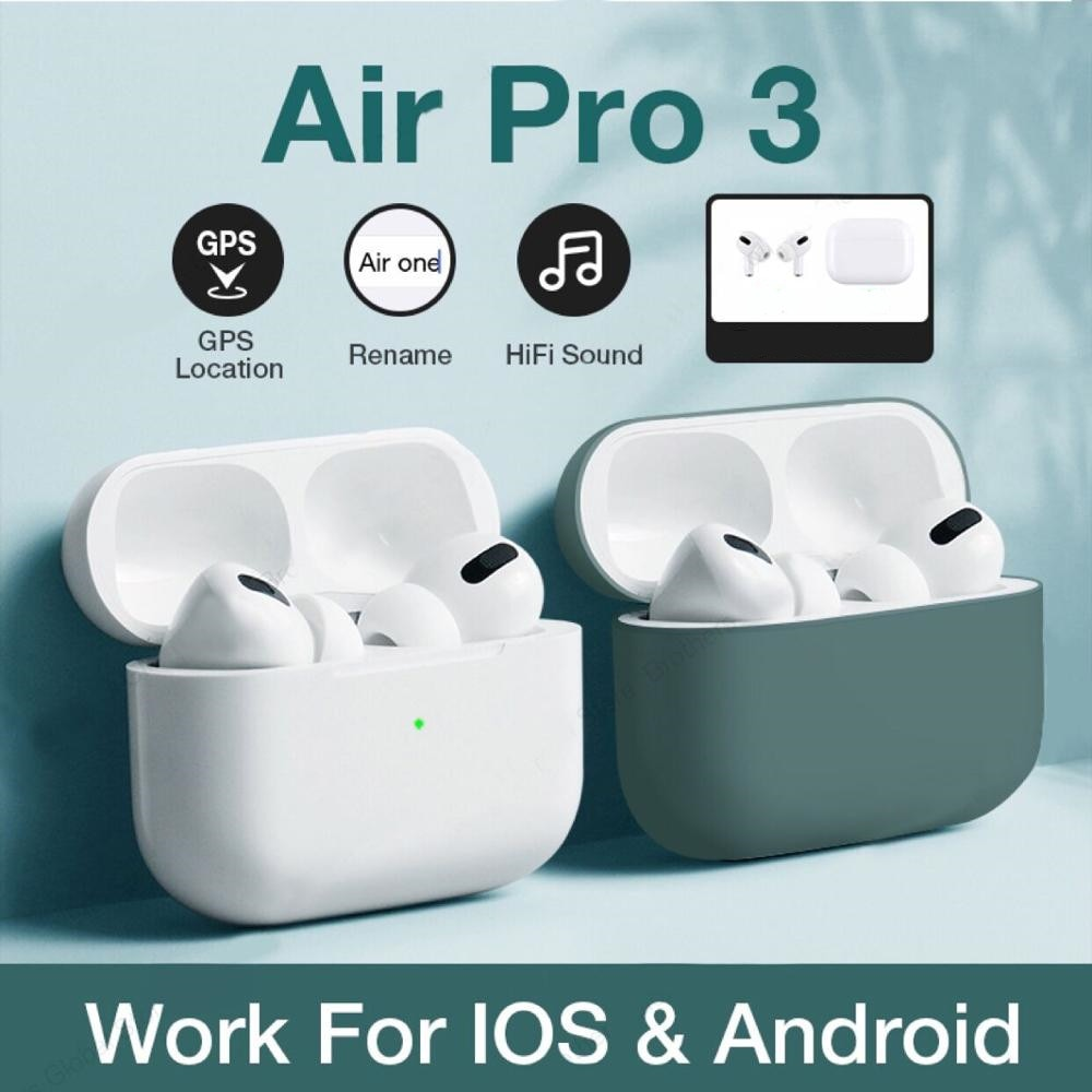 for  pro 3 Bluetooth Earphone Wireless Headphones HiFi Music Earbuds Sports Gaming Headset For IOS Android Phone