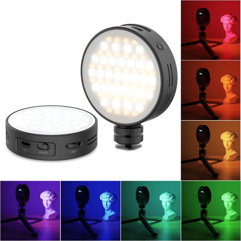 Светодиодная подсветка R66 RGB для видеокамеры, полноцветный светильник для фотосъемки 360, CRI 95, 2000 мАч, подзаряжасветильник светильник для вид...