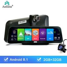 "Anfilite 10 ""Android 8,1 2GB + 32GB ADAS GPS navigation DashCam Auto DVR Kamera 4G WIFI bluetooth fhd HD 1080P Video Recorder"