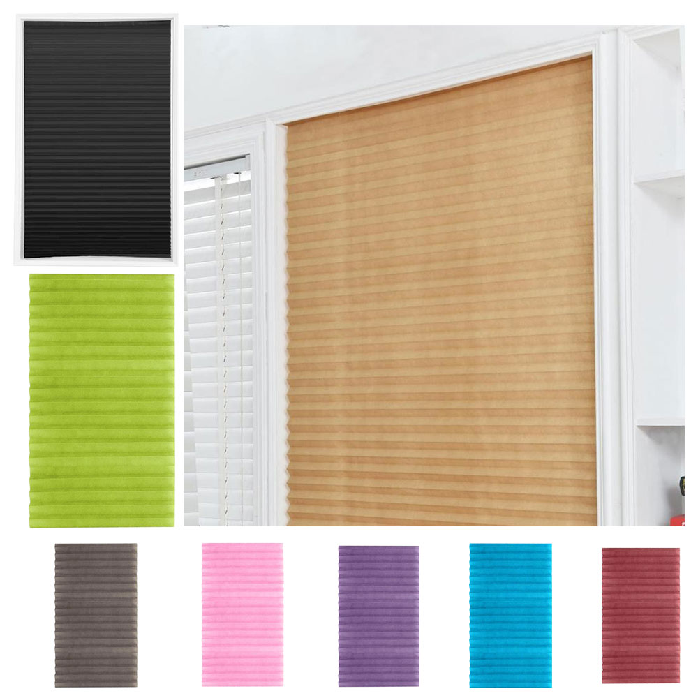 Self-Adhesive Windows Blinds Half Blackout Curtains for Bathroom Balcony Shades for Living Room Wind