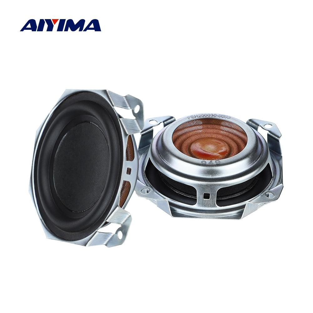 AIYIMA 2 uds 3 pulgadas Woofer Altavoz pasivo diafragma radiador Membrana de...