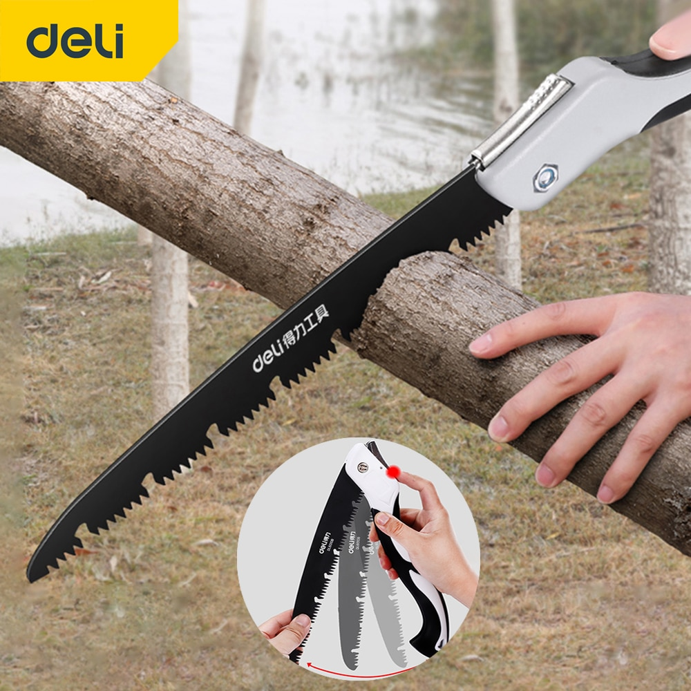 DELI 580MM Wood Folding Saw Outdoor For Camping SK5 Grafting Pruner for Trees Chopper Garden Tools Unility Knife Hand Saw
