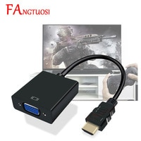 FANGTUOSI 1080P HDMI-совместимый с VGA адаптер папа-мама конвертер с видео аудио кабелем HDMI-совместимый VGA для ТВ-приставки