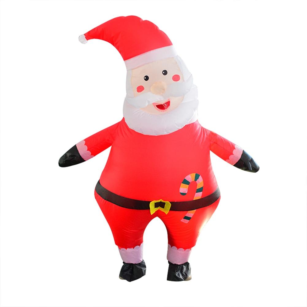 Gran cabeza de chico inflable globo de aire traje de fiesta de Navidad Santa Claus globo de aire adultos niños Navidad Cosplay ropa herramientas