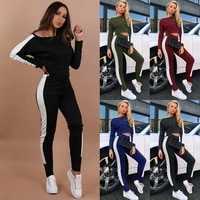women tracksuit set co ord crop tops pants loungewear ladies casual suit outfit