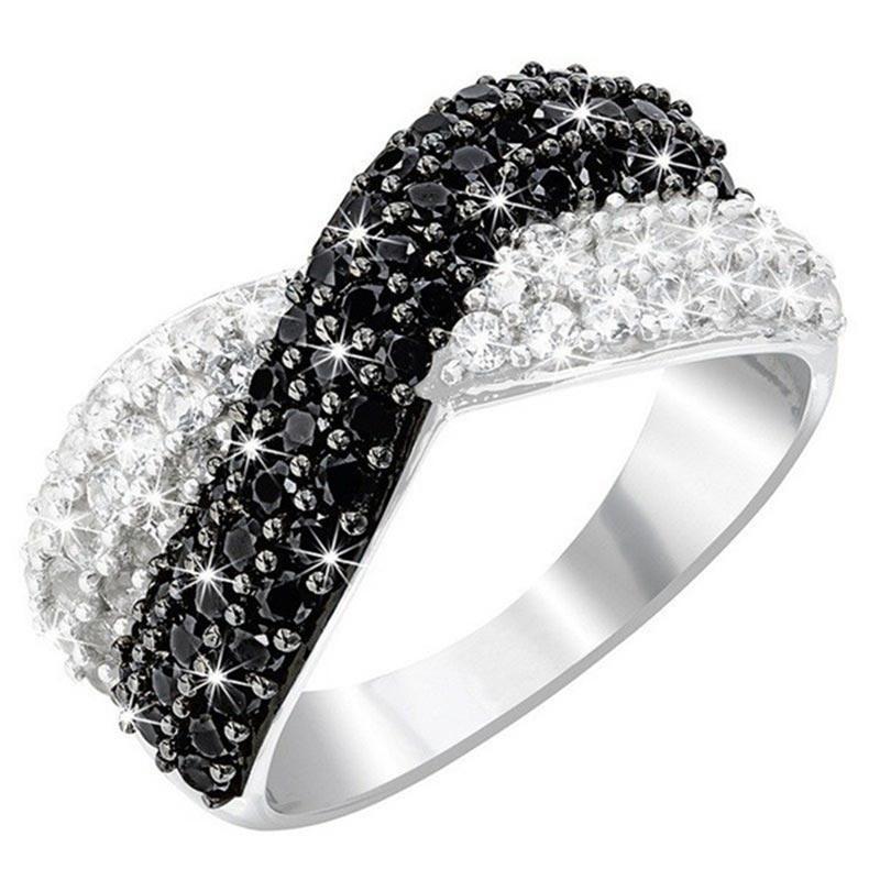 Anillo de compromiso de cristal para mujer ¡joyería de moda decoración y...
