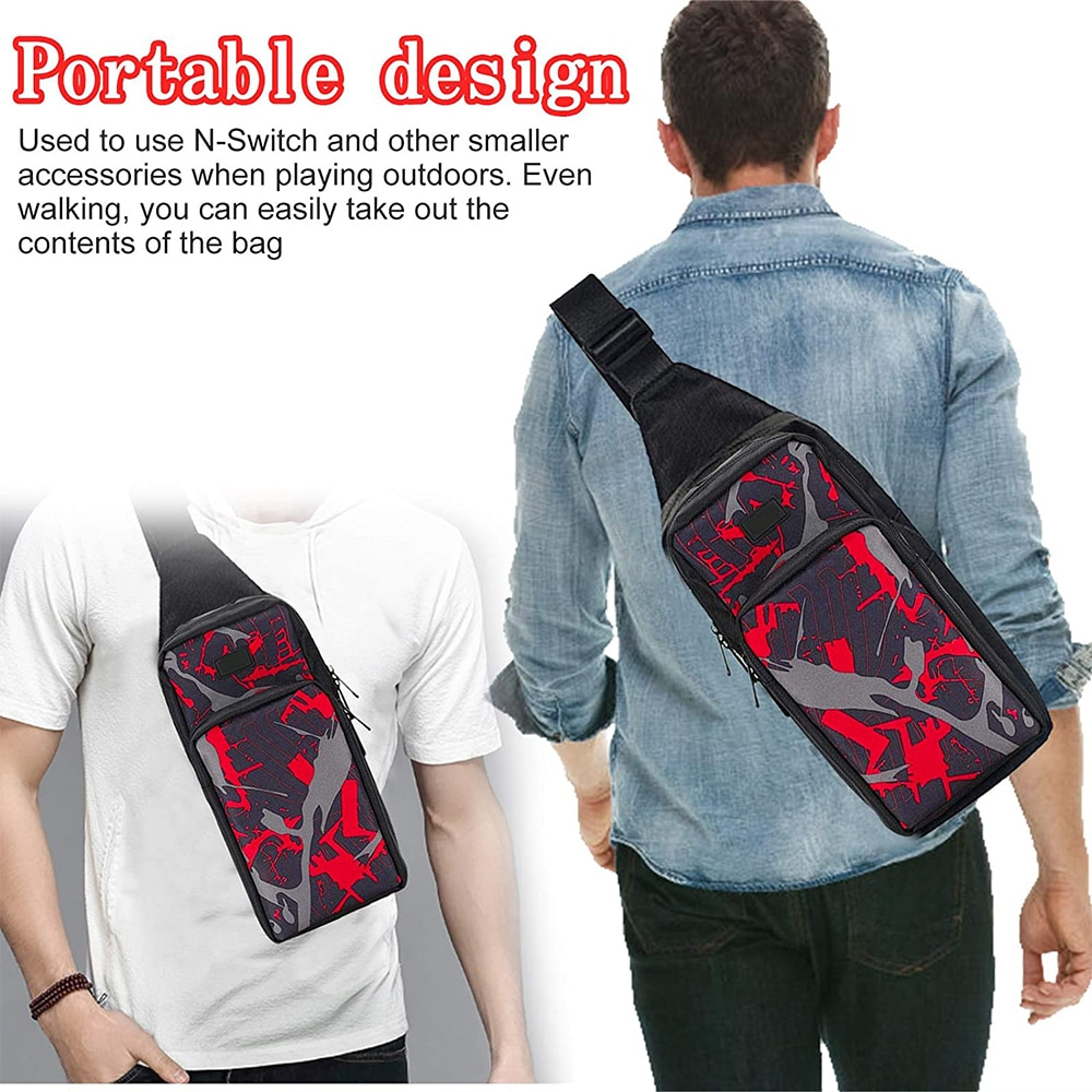 Portable Travel Carrying Case for Nintendo Switch, Durable Shoulder Storage Bag Fashion Backpack for Switch/Switch Lite Console