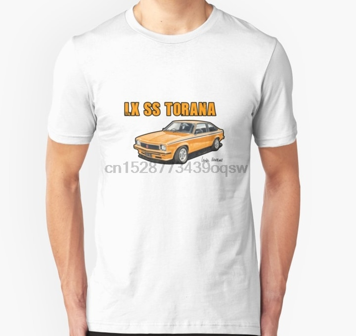 Camisa de manga curta de holden lx ss torana em mamão magro ajuste t camisa camisetas femininas