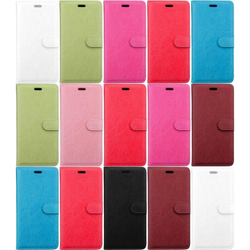 Funda de cuero para Motorola Moto E5 G6 Play G7 Plus One Power P30 Note Fundas de negocios de un solo Color marco DP08G