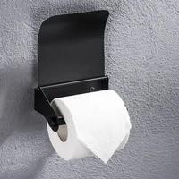 Porte-rouleau de toilette mural en acier inoxydable  accessoires de salle de bains  noir argent brosse