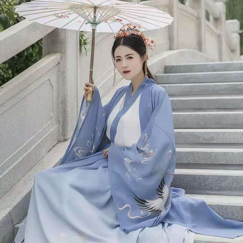 Hanfu Dress Ancient Chinese Fairy Dance Costume Embroidery Tang Suit Han Dynasty Princess Traditional Chinese Hair Cosplay classic vintage hairpin hair accessories princess hair flower chinese ancient princess hair decoration han dynasty wear