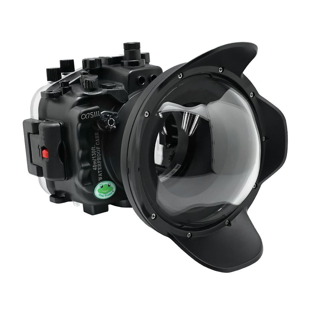Seafrogs 40 متر كاميرا مقاومة للماء الإسكان الغوص حالة لسوني A7SIII A7S3 28-70 مللي متر 90 مللي متر 16-35 مللي متر 12-24 مللي متر