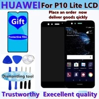 5 2 original lcd with frame for huawei p10 lite lcd screen for huawei p10 lite was lx1 was lx1a was lx2 was lx3 display replace