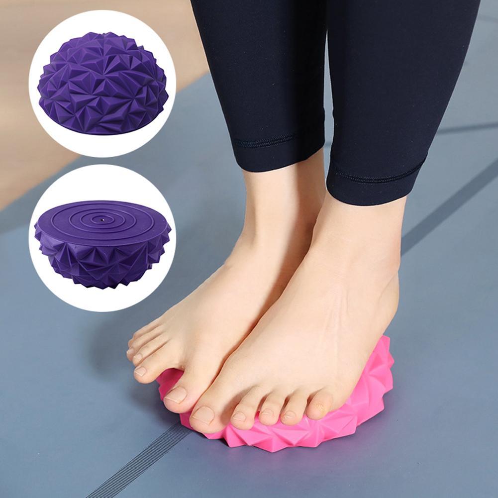 Pelota de masaje de Yoga Bola de masaje de Media bola de Yoga Bola de masaje de músculo bola para masajes en los pies Musc