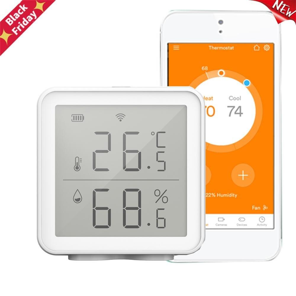 Sensor de Umidade Digital sem Fio Medidor de Umidade Inteligente Temperatura Compatível Higrômetro Termômetro Interno wi fi