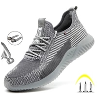 mens safety work shoes steel toe cap indestructible anti puncture work boots lightweight anti smashing comfort breathable shoe