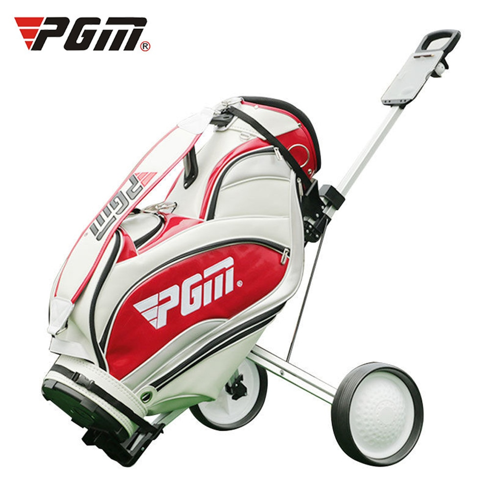 Golf Push Carts Iron Foldable Push-Pull Carts Golf Cart Bag Carrier Driving Range Supplies Portable And Foldable High-Quality