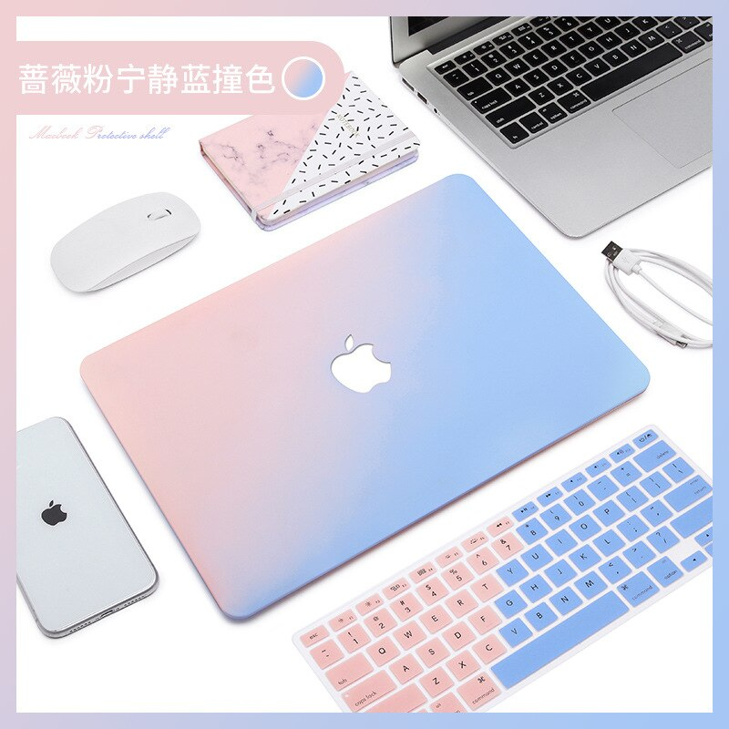 Novo creme casca dura caso do portátil para apple macbook ar pro retina 12 13 15 novo ar pro 13.3 ar a1932 a1466 polegada com barra de toque