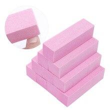 Lixa de unha de espuma para gel uv, bloco de lixa, ferramenta para arte em unhas de manicure e pedicure, 1 peça rosa branco branco