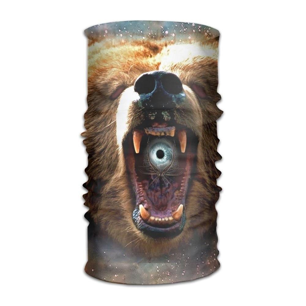 Волшебный головной убор медведь ревущий уличный Шарф Повязка На Голову Повязка на голову маска на шею Повязка На Голову Повязка на голову