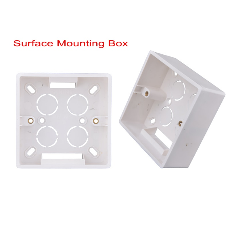 SUNDIY Wall Surface Mounting Box 86mm*86mm*45mm for External Wall Switches and Sockets Apply For Outside White Socket Box