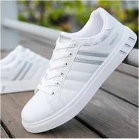 mens shoes fashion casual hot sale classic solid color slash lace flat heel comfortable all match all season sneakers 3kc140