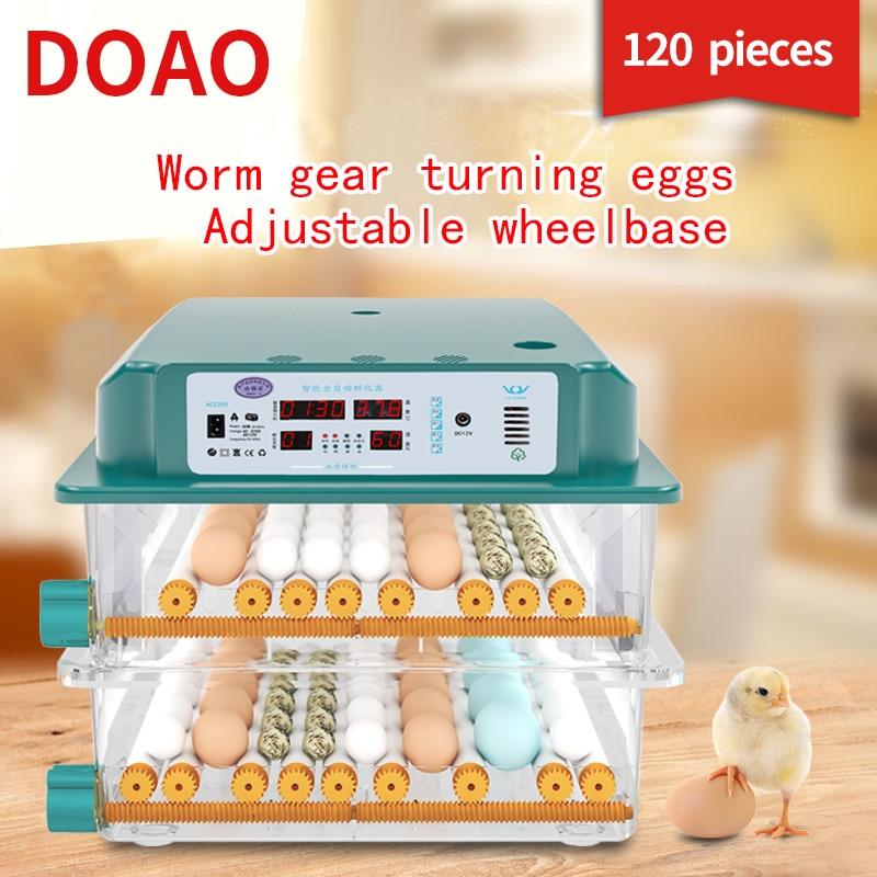 DOAO 120 حاضنة البيض حاضنة أوتوماتيكية جهاز تفريخ بيض الدجاج حاضنة البيض حاضنة أوتوماتيكية بالكامل مزرعة الفرخ السمان هاتشر