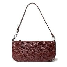 Vintage sac à bandoulière en forme de Baguette concepteur en cuir de Crocodile dames sacs à main de luxe pochette pour femmes France Style téléphone sac à main
