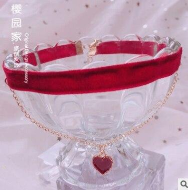 Princesa doce lolita colar japonês doce macio irmã lolita gargantilha amor romântico pingente colar moda feminina hzqx092