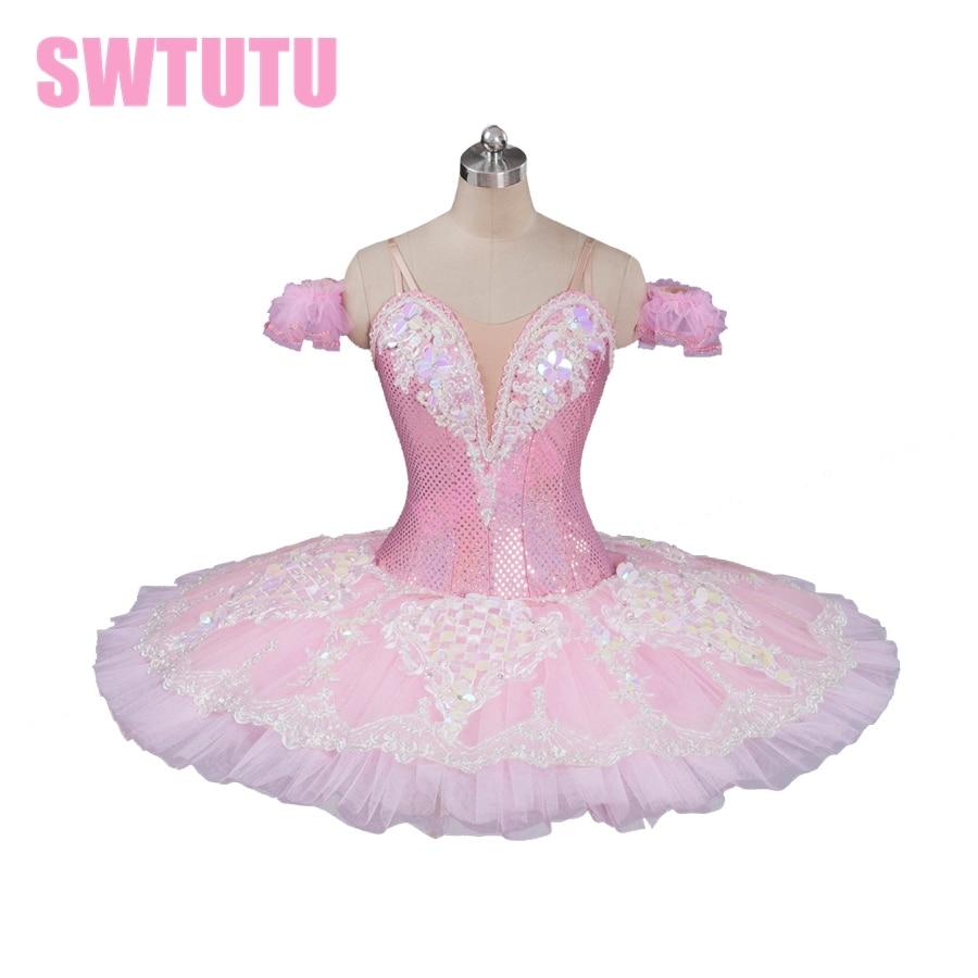New Arrival! pink professional ballet tutu classical ballet tutu for girls pancake tutu with lace ballerina tutusBT9087