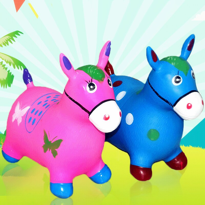 Saltador de aire, caballo saltador estable, amortiguador de goma, juego de Unicornio, muñeco inflable, decoración navideña, mecedora para niños