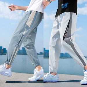 2020 summer new casual pants male Korean wide-leg loose-fitting elastic waist trousers youth fashion sports men's pants