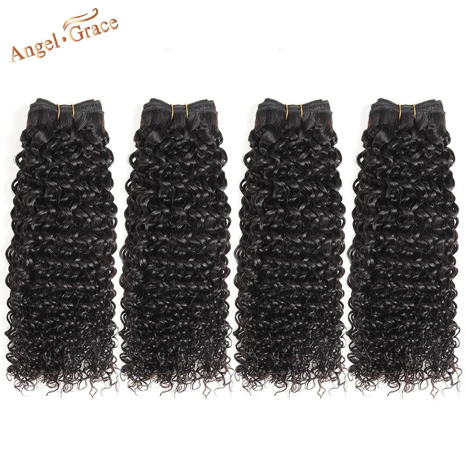 Extensiones de Cabello Remy de Color Natural de pelo humano de 4 piezas de pelo humano