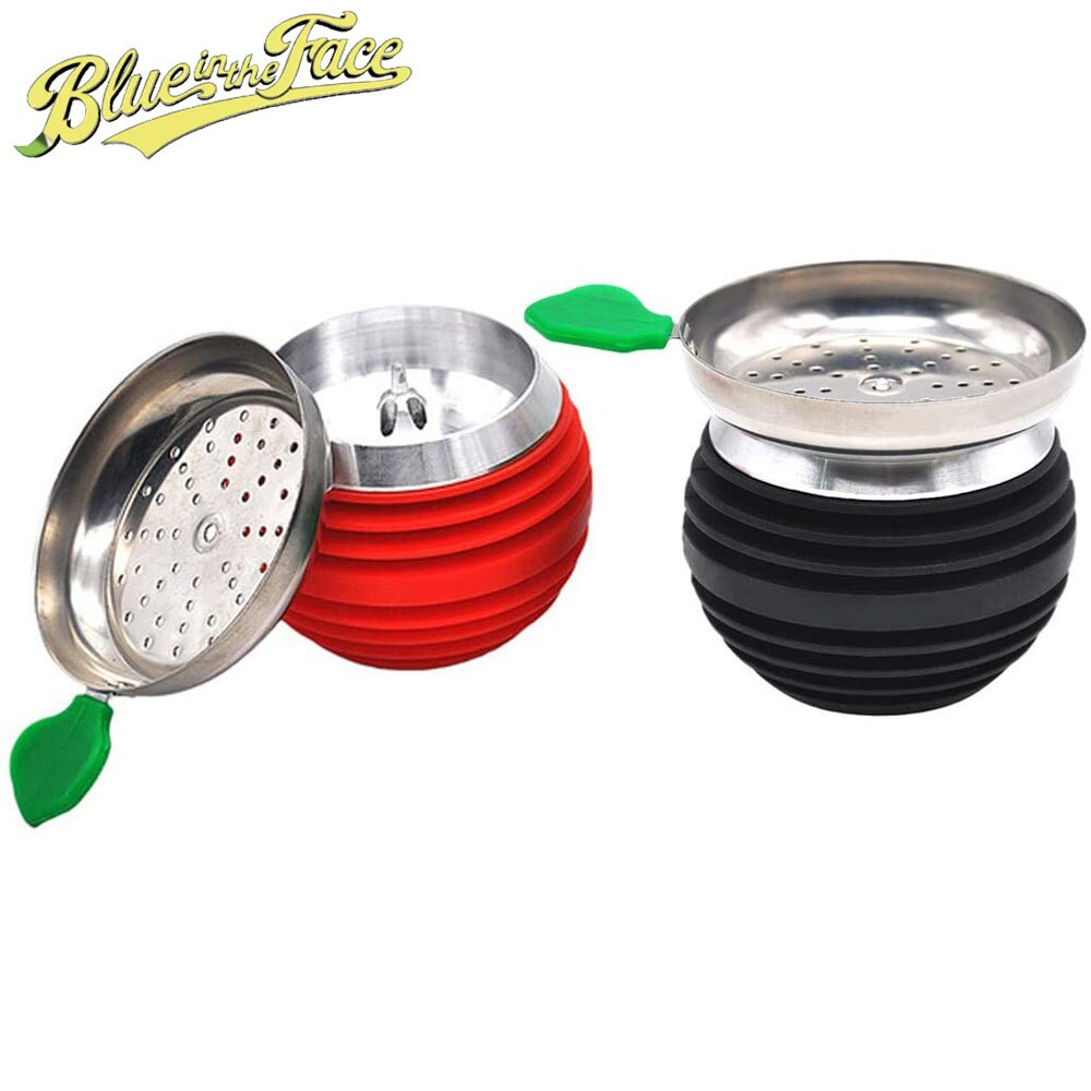 Apple Shape Hookah Bowl Set Silicone Phunnel Shisha Coal Holder for Hookah Accessories