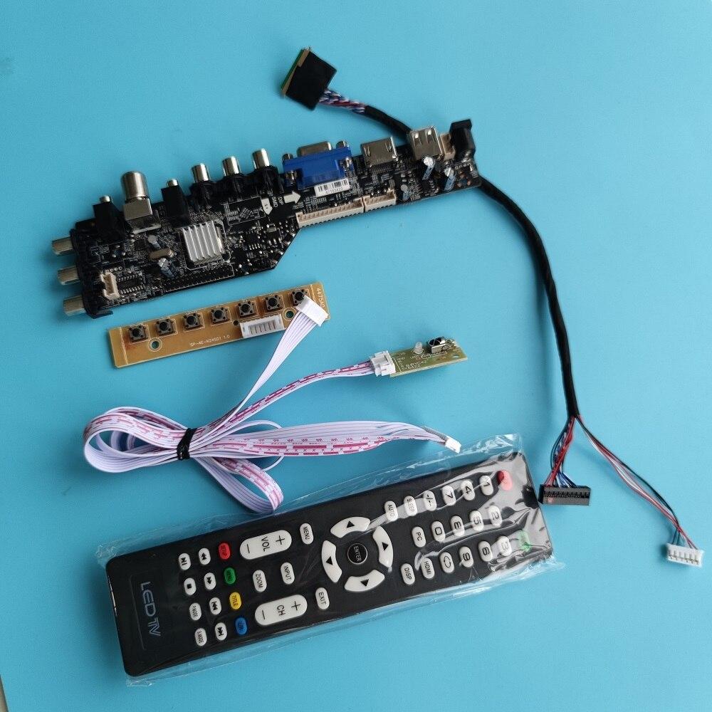 كيت ل LTN160AT06 DVB-T DVB-T2 تحكم الرقمية VGA AV التلفزيون عن بعد مجلس سائق LED USB 1366X768 HDMI المتوافق لوحة رصد