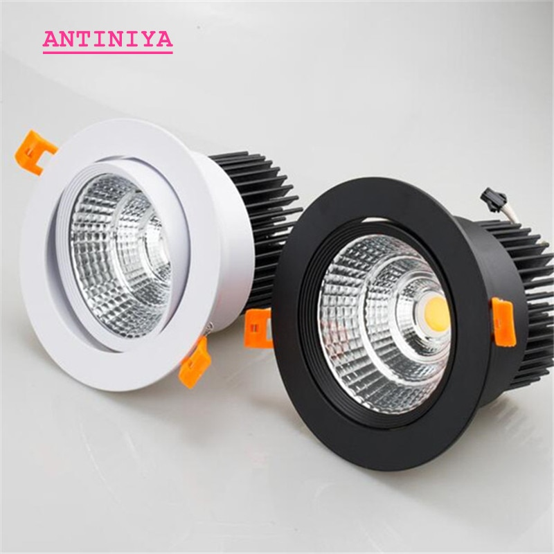 AC110V-220V regulable 5W7W9W12W15W18W20W, luz empotrada para techo Epistar, lámpara empotrable de techo,...