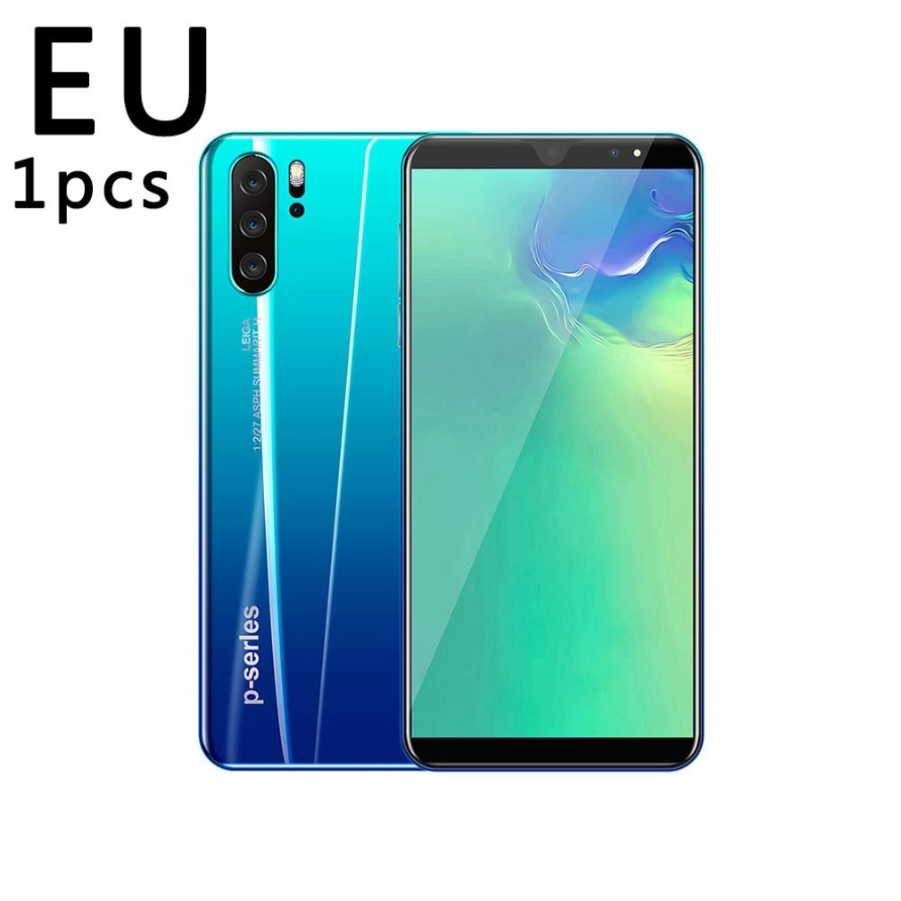 Teléfono Inteligente P33 de 5 pulgadas, 3G, teléfono móvil de pantalla grande, 512Mb de Ram, alta capacidad, huella digital Real, desbloqueo facial